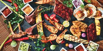 Summer Asian Barbecue Buffet