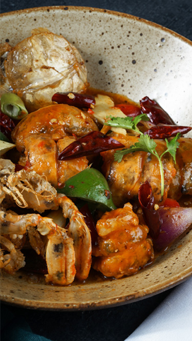 Lung Hin features Sea Mantis Prawns